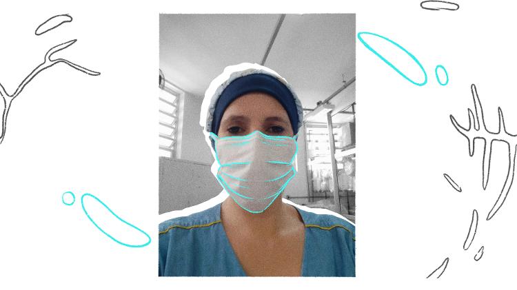 Alessandra Contel, Assistente de lavanderia em Santa Casa de Araçatuba, SP - Arquivo pessoal / Arte: Oda Moura