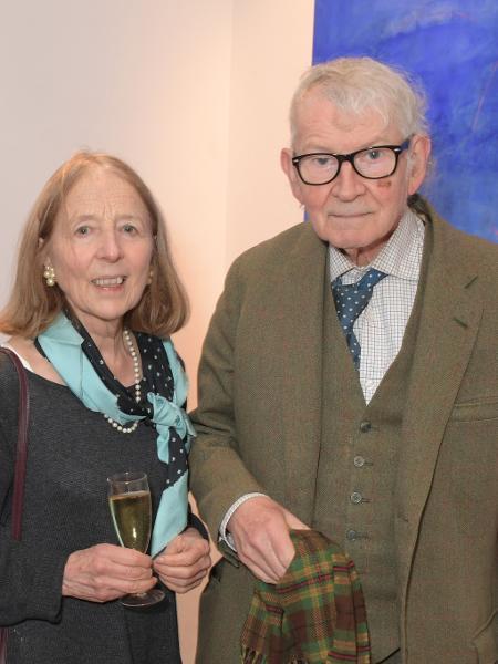 12/12/2019. - Jon Whiteley (à direita) com sua esposa Linda, em um evento em Londres (Reino Unido) - David M. Benett / Getty Images