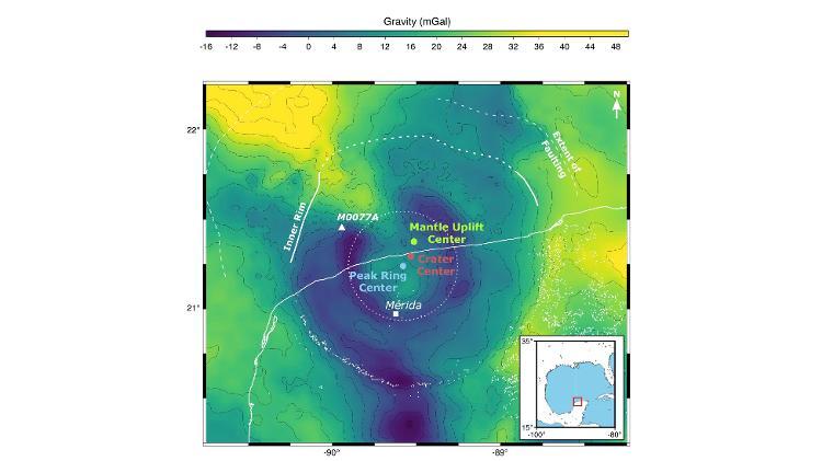 Região de Mérida, no Golfo do México, onde caiu o asteróide - Comunicado de imprensa / Imperial College of London