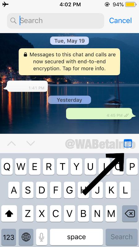 A função de busca por data deve chegar em breve no WhatsApp - Play / WaBetaInfo