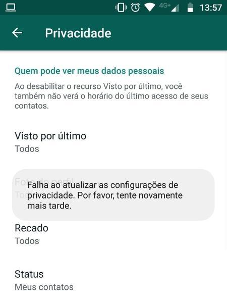Falha nas configurações de privacidade do WhatsApp - Play - Play
