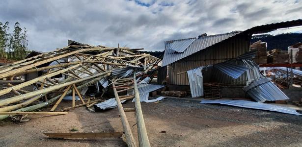 O ciclone de bombeamento danifica 70% da superfície da planta no SC; o prejuízo ultrapassa R $ 2 milhões
