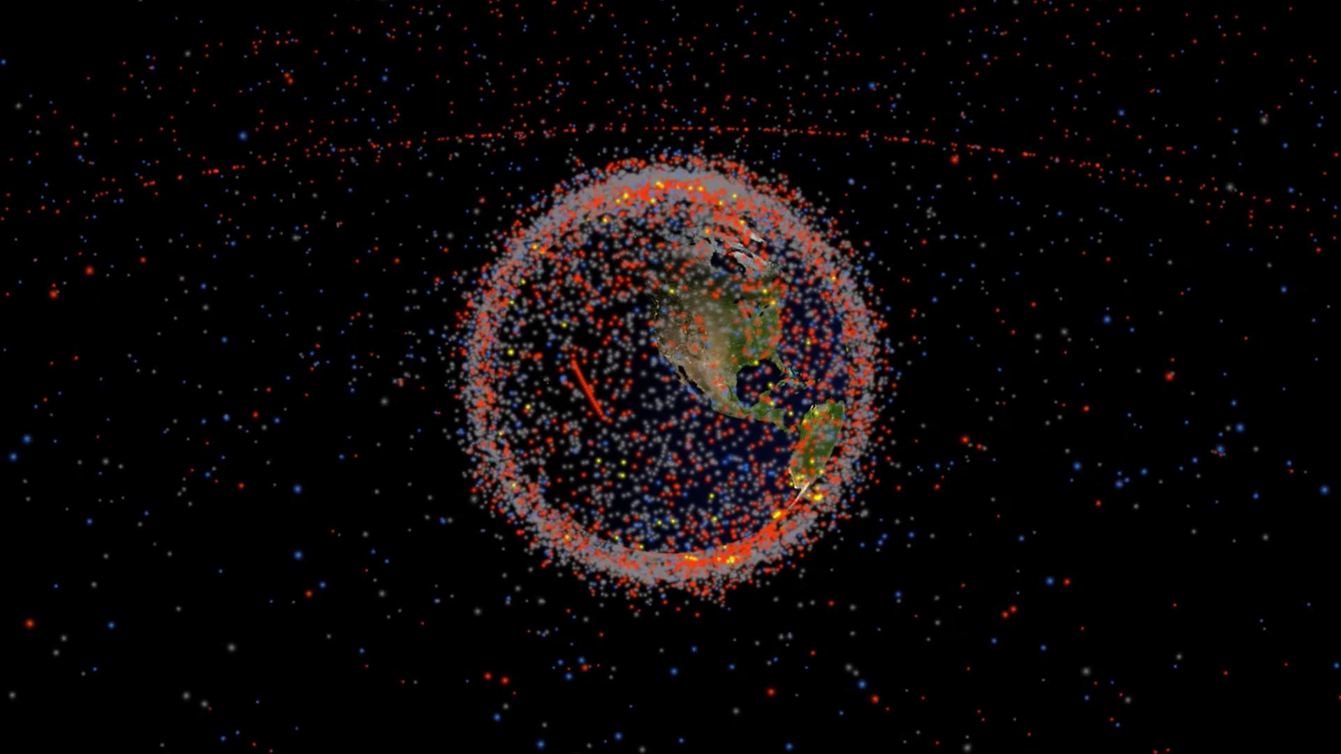 o problema de detritos na órbita da Terra