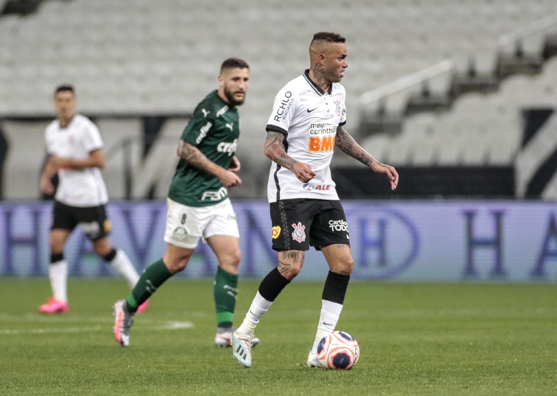 Luan, durante a partida Corinthians e Palmeiras - Rodrigo Coca / Agência Corinthians