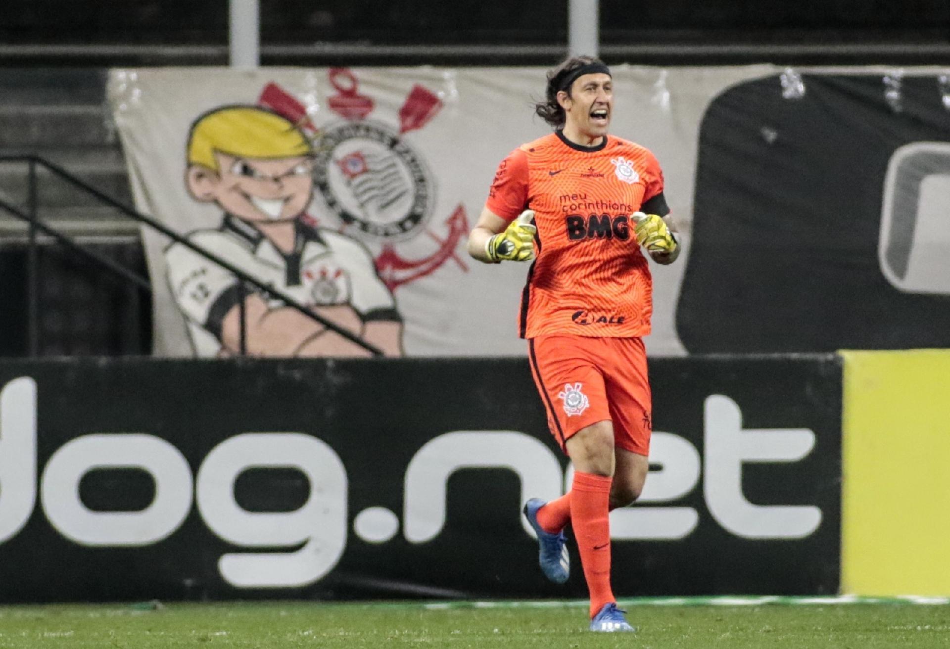 Cassio, durante a partida Corinthians e Palmeiras - Rodrigo Coca / Agência Corinthians