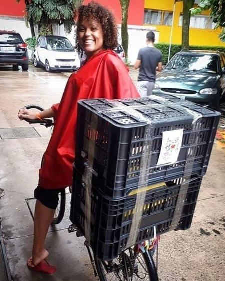 Aline Rieira, do coletivo Señoritas Courier - Comunicado de imprensa / BBC - Comunicado de imprensa / BBC
