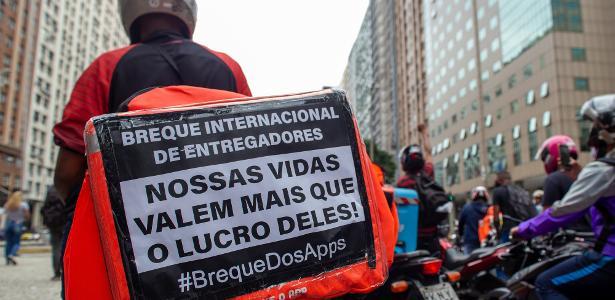 """""""Não parei, mas apoio"""": o que dizem os entregadores que trabalharam na greve - 7.1.2020"""