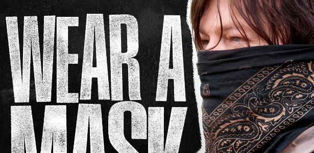 'The Walking Dead': Nos pôsteres, os personagens dizem para as pessoas usarem máscaras - 10.7.2020