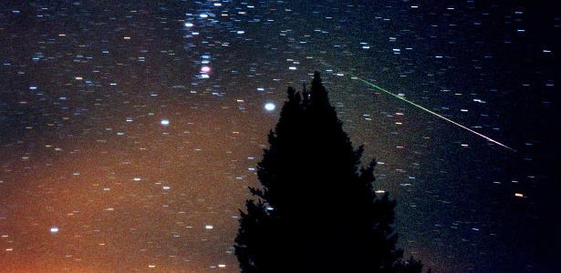 como observar chuvas de meteoros