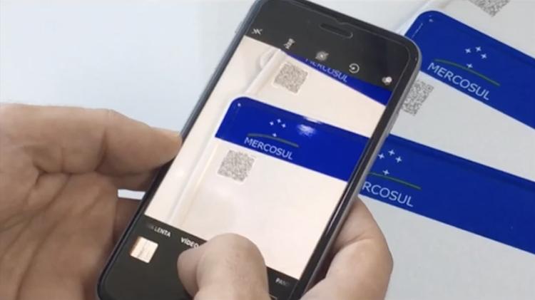 Falsificação de placas Placas Mercosul QR Code - Reprodução - Reprodução