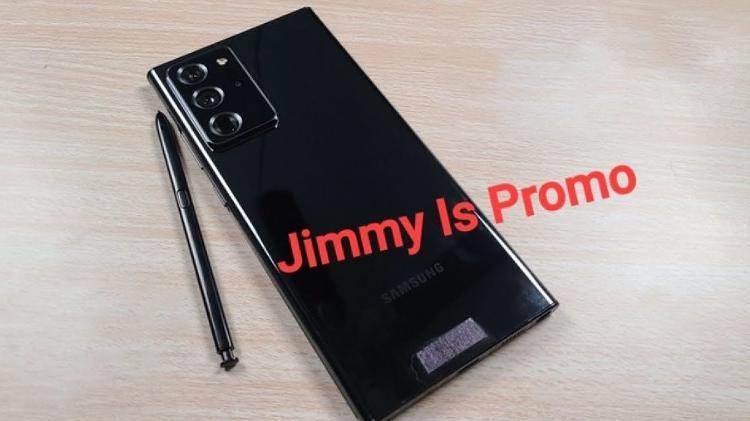 A versão em bronze do Galaxy Note 20 Ultra combina com a cor das imagens promocionais do evento - Play / Promoção de Jimmy - Play / Promoção de Jimmy
